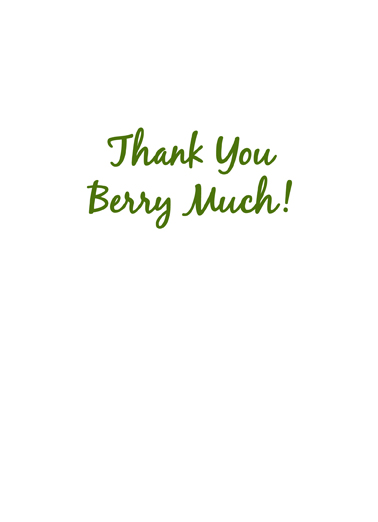 Berry Much Thank You Card Inside