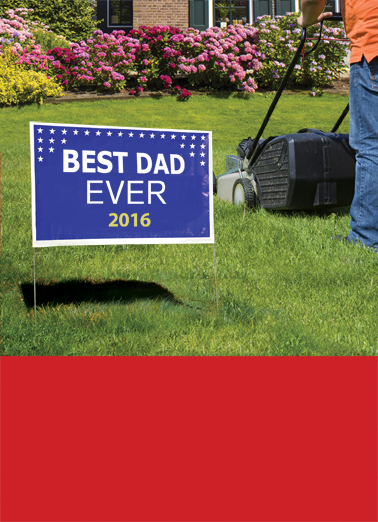 Best Dad Ever Sign Father's Day Card Cover