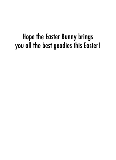 Best Goodies Easter Card Inside
