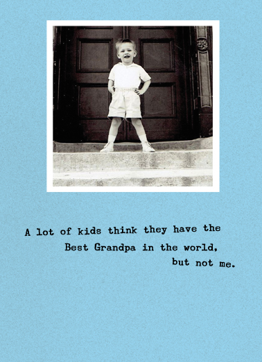 Best Grandpa Father's Day Ecard Cover
