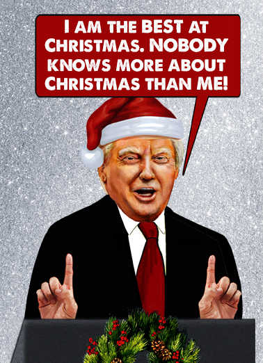 Best at Christmas President Christmas Card Cover