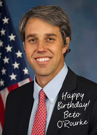 Beto Autograph Birthday Ecard Cover