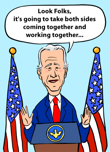 Biden Blow Out Birthday Card Cover
