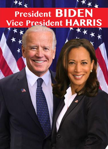 Biden Harris VAL  Card Cover