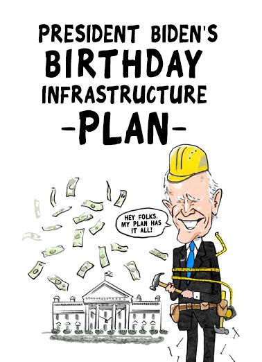 Biden Plan Birthday Card Cover