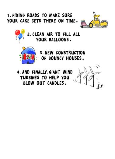 Biden Plan Birthday Card Inside