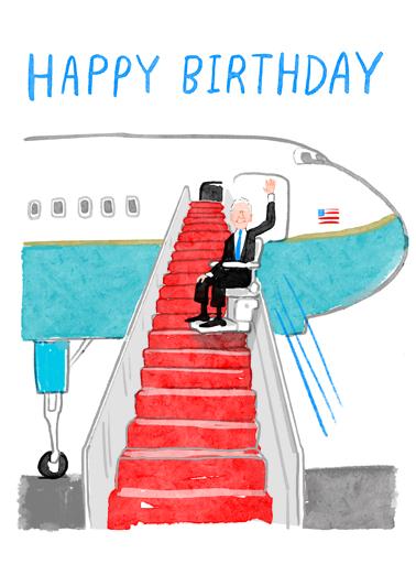Biden Stairway Birthday Card Cover