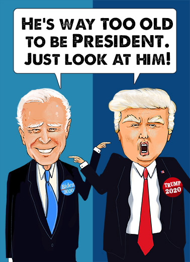 Biden and Trump  Card Cover