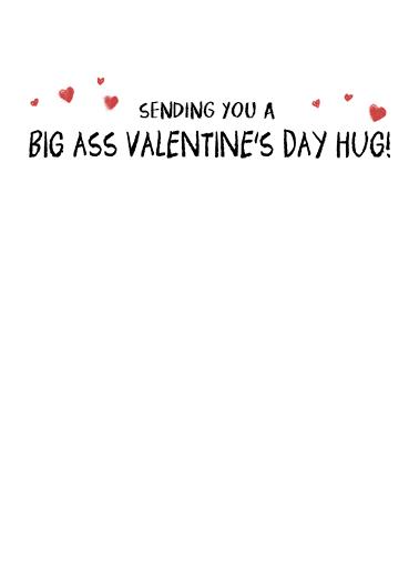 Big Ass Val Hug  Card Inside
