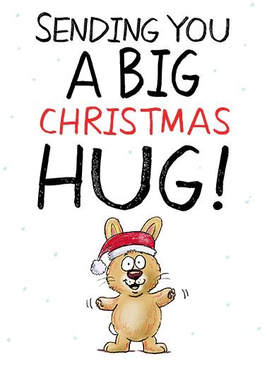 Big Christmas Hug Christmas Card Cover
