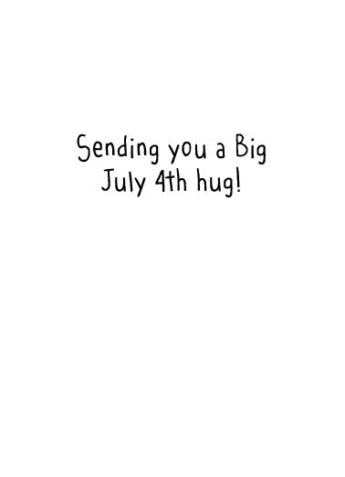 Big Hug (4) Cats Card Inside