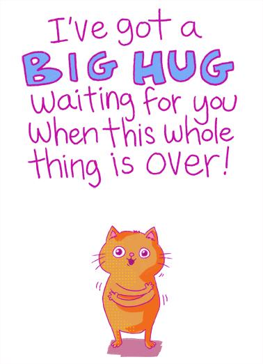 Big Hug Waiting For Any Time Ecard Cover