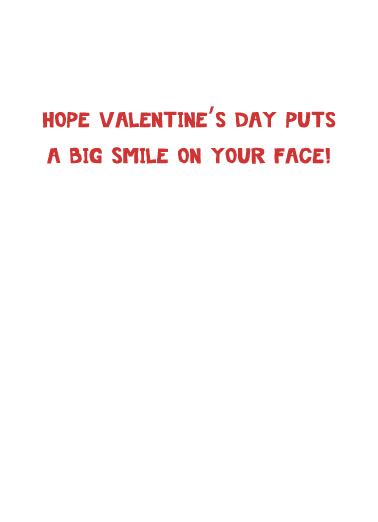 Big Smile Cat VAL Valentine's Day Card Inside
