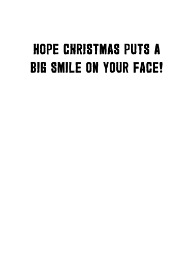 Big Smile Cat Xmas Christmas Card Inside