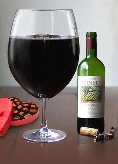 Big Wine Glass Gal Wine Ecard Cover
