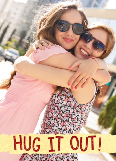 Biggest Hug For Any Time Ecard Cover