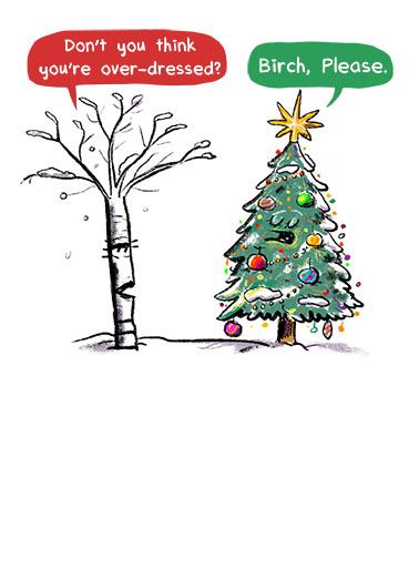 Birch Please Christmas Ecard Cover