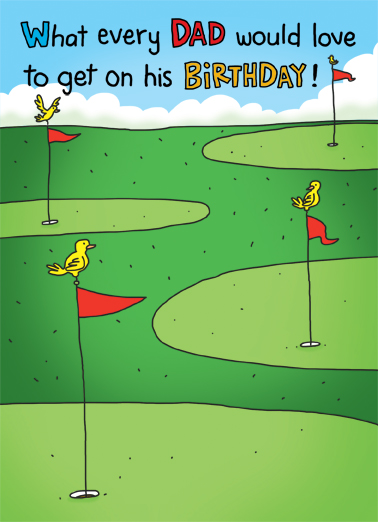 Birdie For Dad Birthday Card Cover