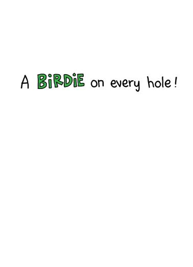 Birdie Father's Day Card Inside