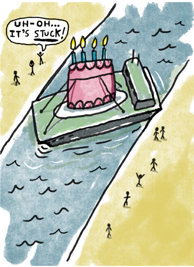 Birthday Barge Birthday Card Cover