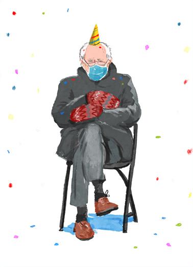 Birthday Bern Funny Political Ecard Cover