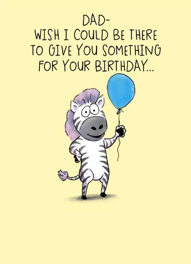 Birthday Dad Zebra Special Birthday Card Cover
