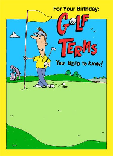 Birthday Golf Terms Birthday Card Cover