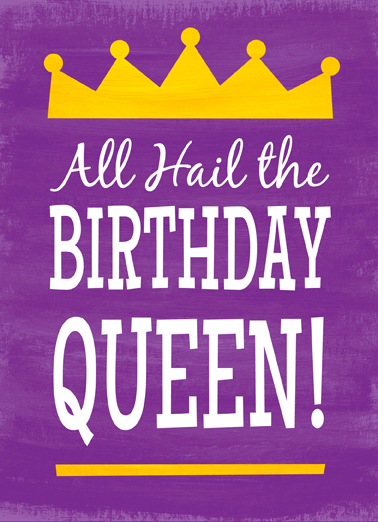 Birthday Queen Lettering Ecard Cover