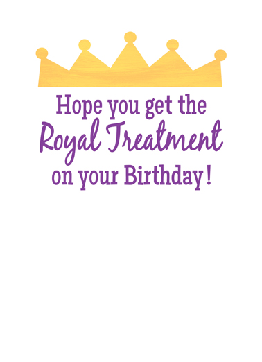 Birthday Queen Lettering Ecard Inside