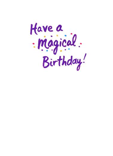 Birthday Unicorn Birthday Card Inside
