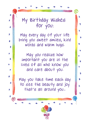 Birthday Wishes One from the Heart Card Cover