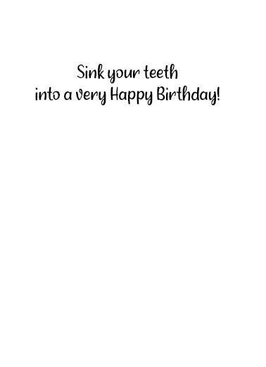 Bite Me Cake Birthday Card Inside
