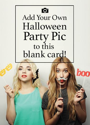 Blank Halloween Photo Card Halloween Ecard Cover
