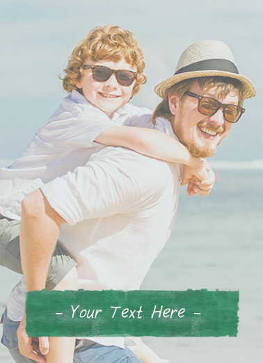 Blank Photo with Caption Father's Day Card Cover