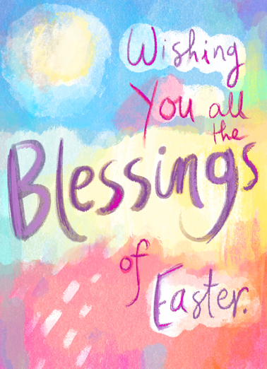Blessings of Easter Easter Card Cover