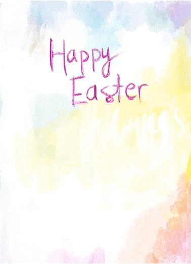 Blessings of Easter Easter Card Inside