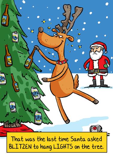 Blitzen Christmas Ecard Cover