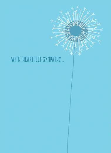 Blue Sympathy Flower Sympathy Card Cover