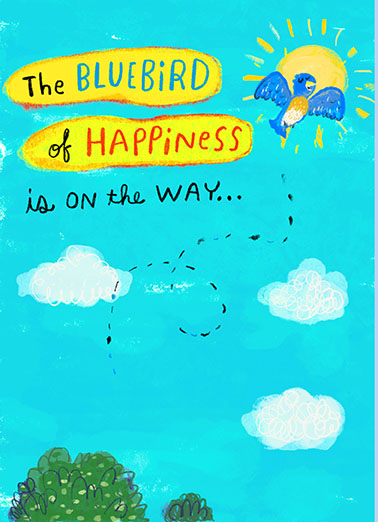 Bluebird of Happiness One from the Heart Card Cover