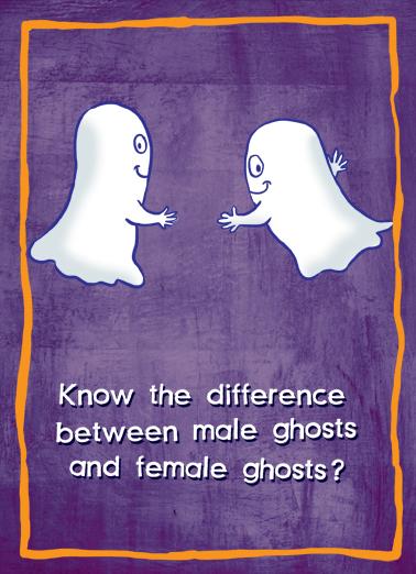 Boobies Halloween Card Cover