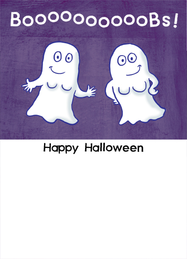 Boobies Halloween Card Inside