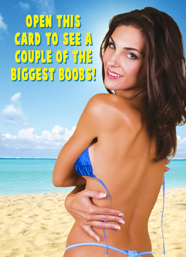 Boobs FD Father's Day Card Cover