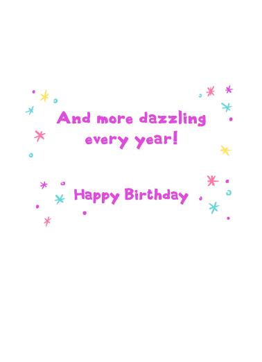 Born To Sparkle Birthday Ecard Inside