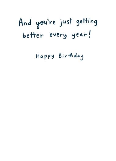 Born in August Birthday Card Inside