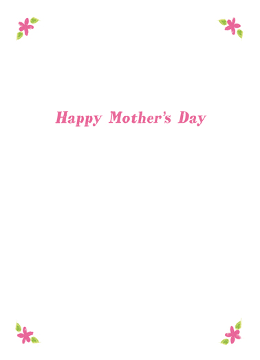 Bouquet Mom Mother's Day Ecard Inside