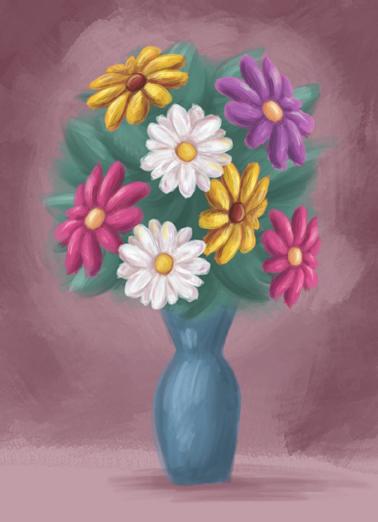 Bouquet Sympathy Sympathy Card Cover