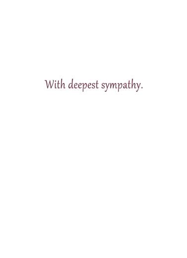 Bouquet Sympathy Sympathy Card Inside