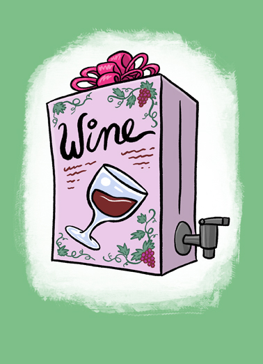 Box Meal Wine Ecard Cover