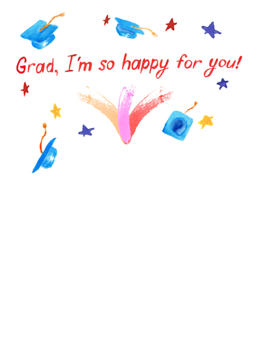 Bravo (grad) Graduation Card Inside