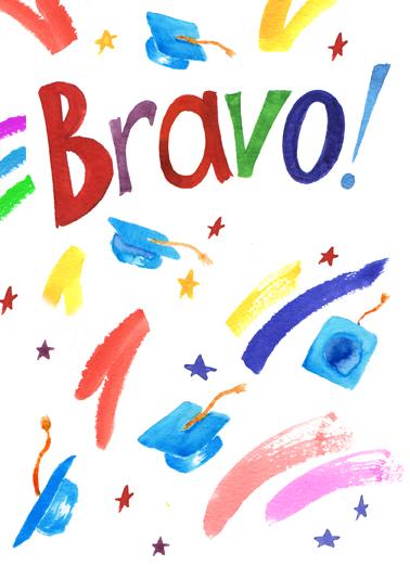Bravo (grad) Graduation Ecard Cover